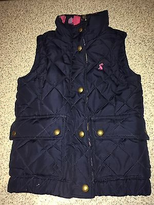 Joules Girls Navy Blue Gilet Age 4 Years