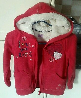 Girls hooded jumper jacket size 5-6 years