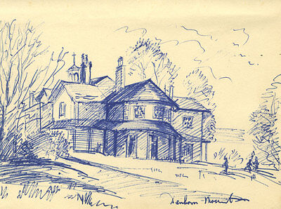 Mid 20th Century Pen and Ink Drawing - Denham Mount, Buckinghamshire