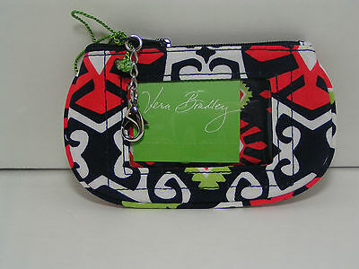 Vera Bradley Clip Zip ID Case in Retired Sun Valley Pattern - New With Tags