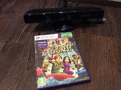 xbox 360 kinect in black with kinect adventures