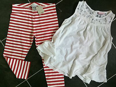 NEW girls tunic top and leggings set from NEXT 8-9 years