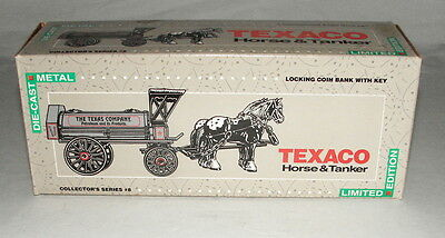 Texaco  Horse And Tanker #8 In Series Diecast Bank