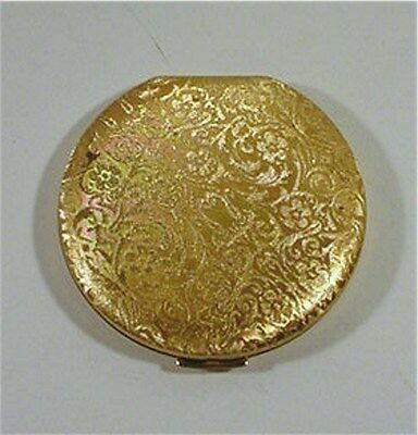 Gold Toned Princess Marcella Borghese  Vintage Compact W/ Flowers