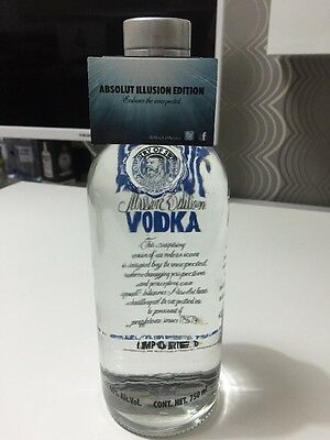 Absolut Vodka Illusion 750ml Mexican Version incl. rare tag  ... full and sealed