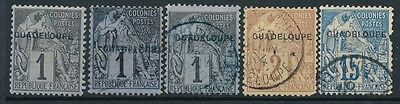 1891 Guadeloupe stamps ,  MIX ,  SCOTT #