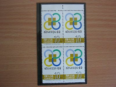 Brazil - 1969- Abuexpo69 Stamp Exhibition - Block Of 4 - Mnh