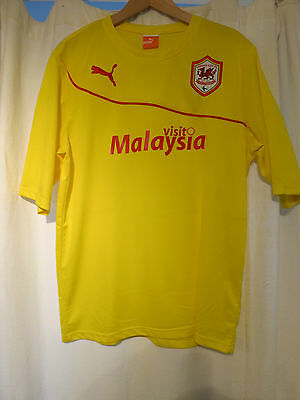 Mens Cardiff City New Puma Football Shirt - Large