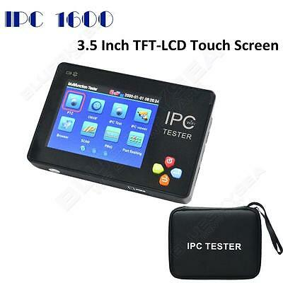 """IPC-1600 3.5""""LCD Touch Screen IPC Analog Network Camera Tester w/Carrying Case"""