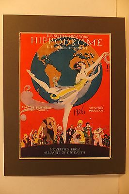 Reprint Of Programme Front Cover New York Hippodrome 1926