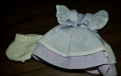 5 inch Effanbee Wee Patsy purpl pastel and white dress outfit only with underwea