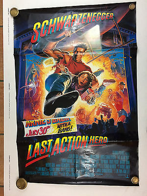LAST ACTION HERO Original one sheet film poster 1993 Schwarzenegger Good B32