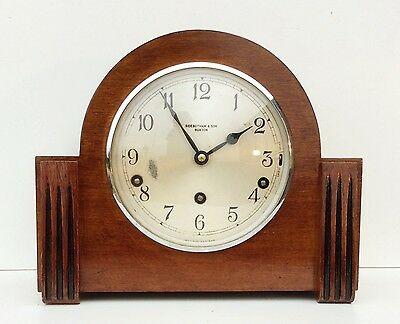 Garrard Walnut Westminster Chime Mantle Clock