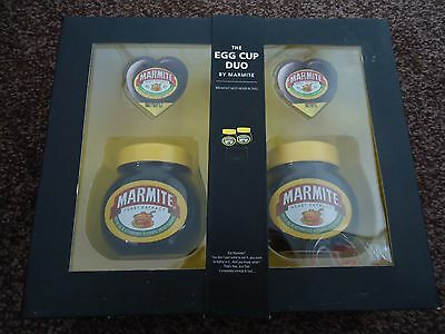 Marmite egg cup duo gift set - Brand New unopened - marmite out of date though