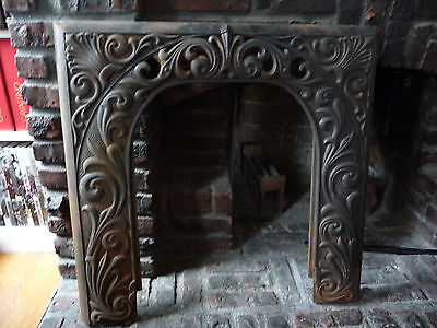 FIREPLACE SURROUND with scrolls and sea shells - Local Pickup Only!