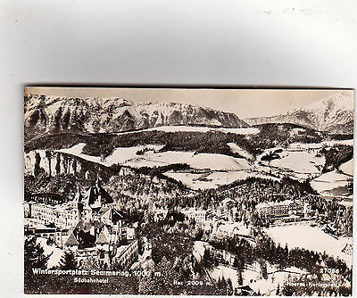 Austria, Semmering - RP aerial view postcard showing winter sports grounds c1960