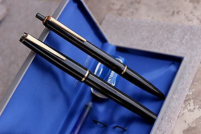 MONTEGRAPPA extra Set ROUGE/NOIR From 60's -Fountain Pen + Ballpoint-NEW(NOS)BOX