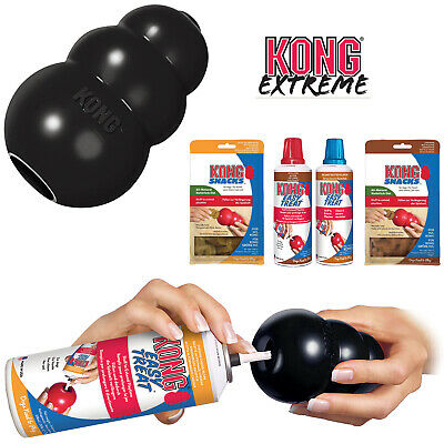 KONG Extreme Black Rubber Dog Toy Treat Dispenser S M L XL XXL