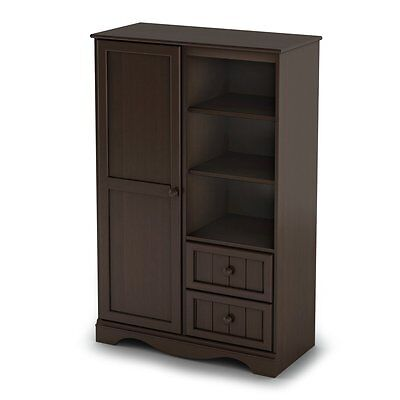 South Shore Savannah Collection Chest with Door, Espresso
