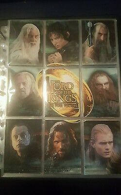 The Lord of the Rings The Two Towers binder album & base & chase trading cards
