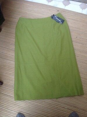 BNWT Planet Green Wool Mix Ladies Skirt Size 14