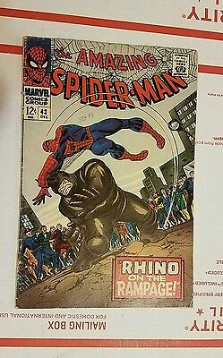 "The Amazing Spiderman #43 ""Rhino on the Rampage!"" Fine Condition!!"