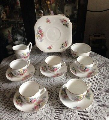Pretty Vintage Duchess Bone China Tea Set Floral & Gold Gilding New Price