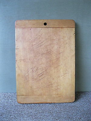 """Vintage Bread Board Primitive Country 14"""" x 10"""" x 7/8"""" Wood, Cutting Dough"""