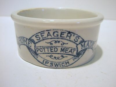 good condition Seagers,potted meat,Ipswich,Suffolk printed  pot