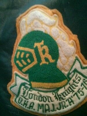 Player worn RARE London Knights  1975/76 Team Leather Jacket OHL CHL