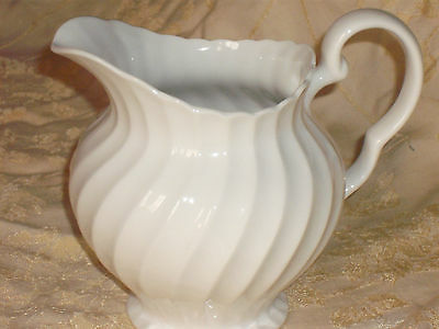 Large British Home Stores Jug -White Regal Pattern - Used-Excellent