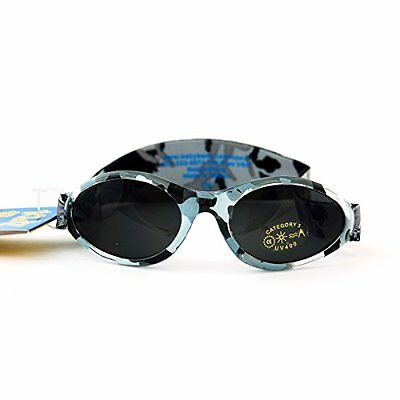 Adventure BanZ Baby Sunglasses, Urban Grey Camo, Infants 0-2 Years