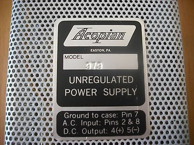 ACOPIAN   model 979 unregulated power supply