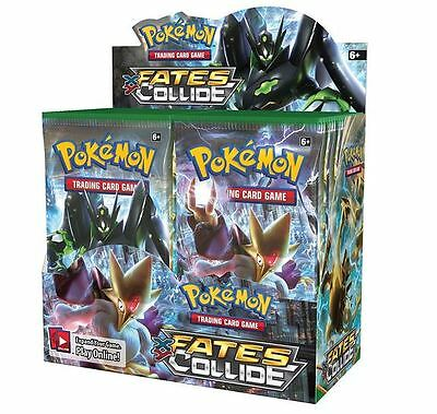 POKEMON XY 10 FATES COLLIDE SEALED BOOSTER BOX - 36 PACKS TCG - New and Sealed