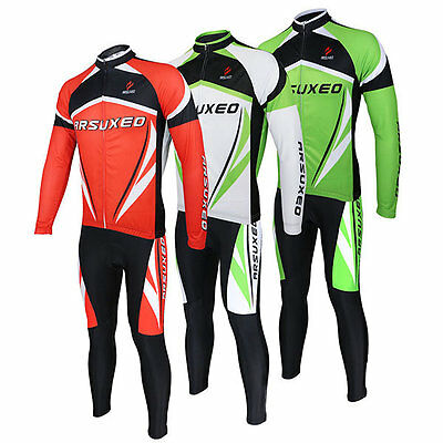 ARSUXEO tuta bici set maglia e pantalone - Men Sports Cycling Clothes Bike