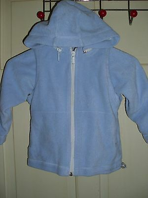 next girls fleece jacket with removable,hood and arms size 4y/o
