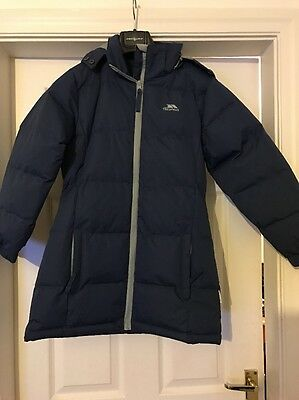 Girls Navy Padded TRESPASS Coat Age 9-10 Years NEW