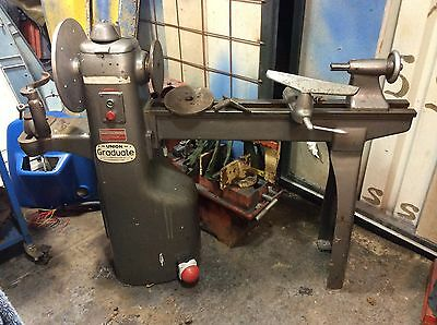 Union graduate wood woodworking lathe in nice condition 415v.