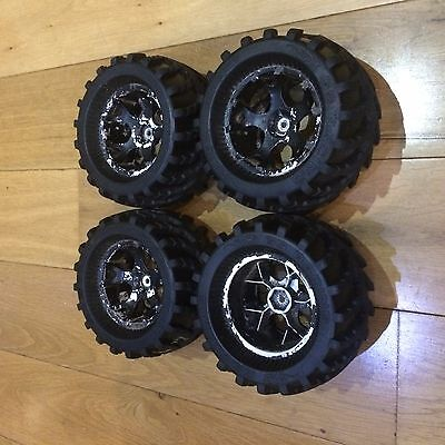 Hpi savage wheels and tyres 17mm Hex
