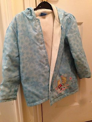 Girls Size 8 Yrs Frozen Coat With Hood