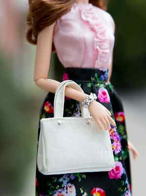 NEW! The Look Barbie Sweet Tea  Barbie Doll white faux leather purse
