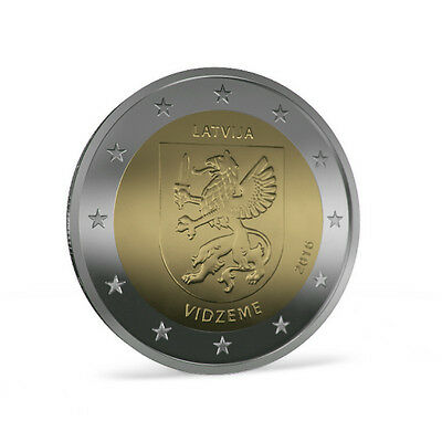 Letonia - 2 Euro Commemorative 2016 - Vidzeme
