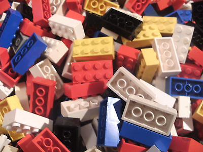 100 * 4pin x 2pin Lego Bricks.Various Colours (3001) *1 Day Listing*