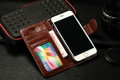 iPhone 6 Brown Leather Wallet Case - Ex Display - Z-TECH PROTECT