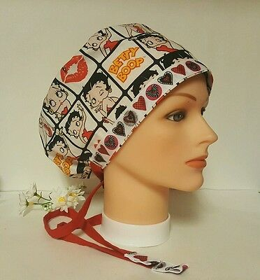 Betty Boop   / Hat Pixie / Scrub / Medical Chemo / Cap