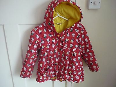 Girls Hello kitty fleece lined lovely and warm age 4-5 years 104-110cms