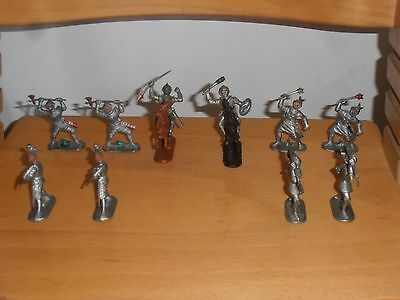 10 x Vintage Knights + 2 Horse & over 30 years made in West Germany. Very Rare.