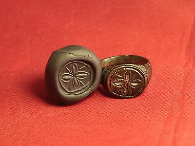 Ancient Roman Legionary Seal Ring, Finger Ring, 2. Century