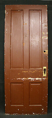 "4 Available 32""x83"" Antique Victorian Interior Solid Wood Doors 4 Raised Panels"
