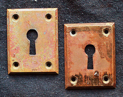5 Pairs available Antique Cast Brass Door Keyhole Plates Escutcheon Key Cover